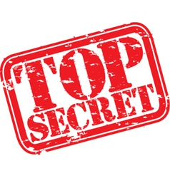 Top secret stamp vector image