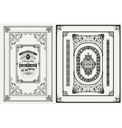Frames and ornaments set vector