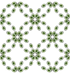 Eyes or beads seamless pattern green vector