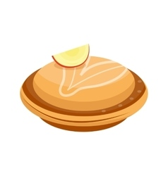 Homemade organic apple pie dessert vector image