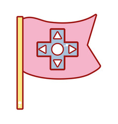 Videogame symbol to play and videogame technology vector