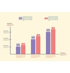 Infographics graph for business and finance vector image