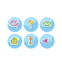 Set of business icons lightbulb megaphone paper vector image