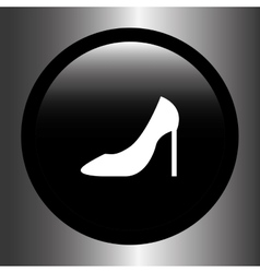 Shoe woman design vector