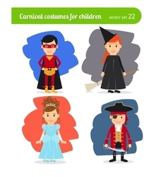 Kids wearing costumes vector