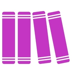 Library books icon vector