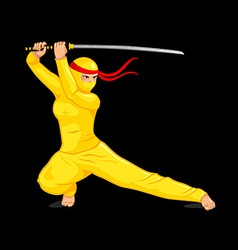 Bright female ninja vector