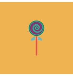 Spiral candy flat icon vector