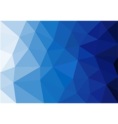 Abstract blue tone polygonal background vector