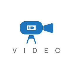 abstract icon design template of video camera vector image