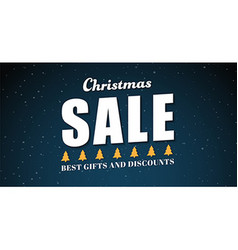 banner template background for Christmas sales vector image