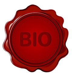 BIO wax seal vector image