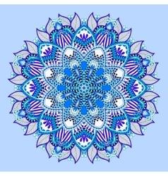 Blue beautiful vintage circular pattern of vector