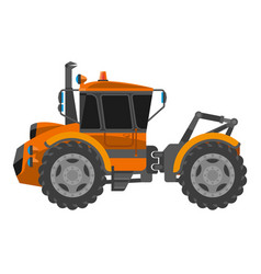 bulldozer machine for building or construction vector image