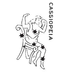 cassiopeia vintage vector image
