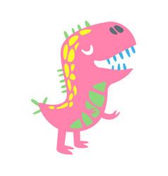 colorful funny dinosaur prehistoric animal vector image vector image
