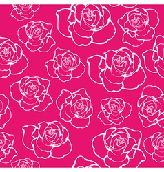 Contour rose seamless vector