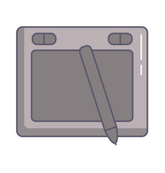 Designer tablet with pencil electronic vector