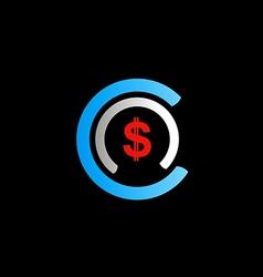 Dollar sign money business finance logo vector