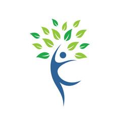 Eco tree people logo image vector