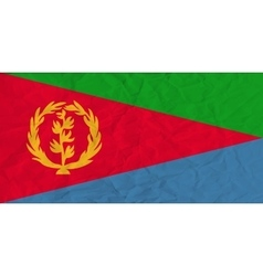 Eritrea paper flag vector image vector image