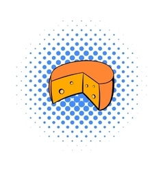 French cheese icon comics style vector
