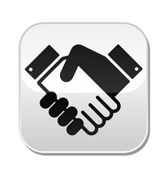 Handshake button - agreement business vector