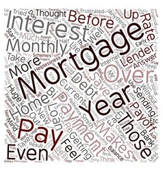 How to pay off your 30 year mortgage in 12 years vector