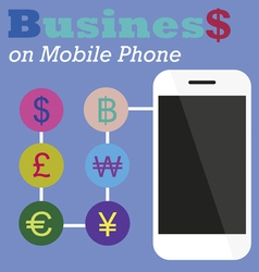 Info graphic Business on Mobile phone vector image vector image