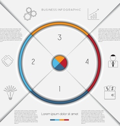 Infographic template on 4 positions vector image vector image