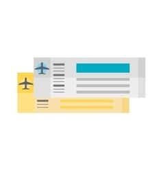 plane tickets vector image vector image
