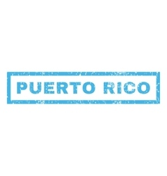 Puerto rico rubber stamp vector