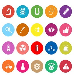 Science flat icons on white background vector image