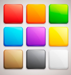 Set of colorful buttons icons vector