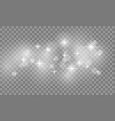 set of star burst and sparkles with glowing light vector image vector image