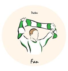 Showing a fan vector