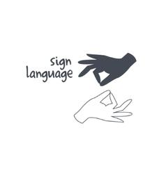 Sign language interpreting vector