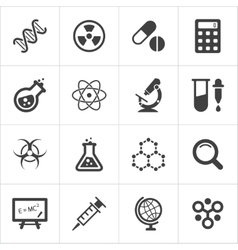 Trendy science icons on white vector image vector image