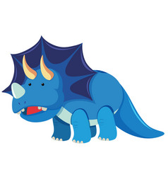 Triceratops with three horns vector