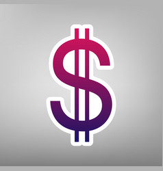 United states dollar sign purple gradient vector