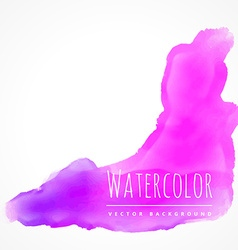 Watercolor stain in pink color vector