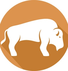 Bison icon vector