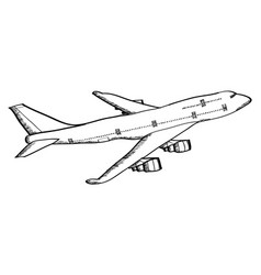 Airplane line vector