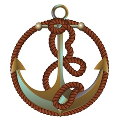 Anchor with rope2 vector image