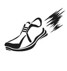 Ranning shoe icon vector
