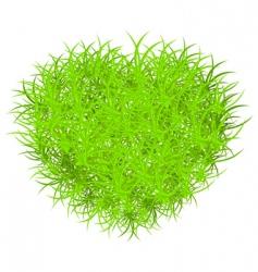 vector grass heart vector image