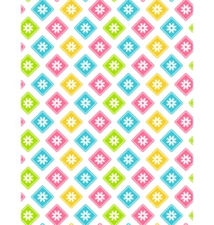 Seamless bright abstract pattern with flowers vector