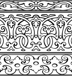 1 set of decorative borders vintage style vector