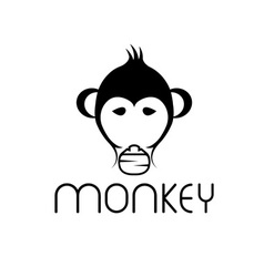 Monkey design template vector