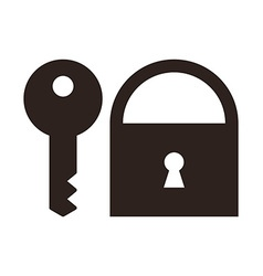 Key and padlock icon vector